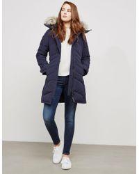 Canada Goose - Womens Lorette Padded Parka Jacket Blue - Lyst