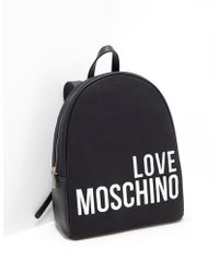 Love Moschino - Canvas Embroidery Backpack Black - Lyst