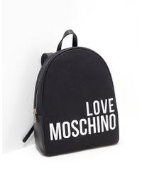 Love Moschino Logo Backpack Black