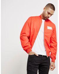 Calvin Klein - Mens Logo Bomber Jacket Red - Lyst