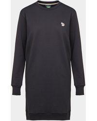PS by Paul Smith Zebra Sweatshirt Dress - Black