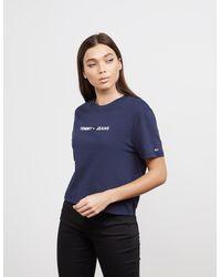 Tommy Hilfiger Heart Logo Short Sleeve T-shirt Blue