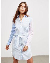 Tommy Hilfiger Essential Stripe Shirt Dress Blue