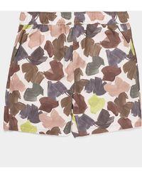 WOOD WOOD Hamilton Camouflage Shorts - White