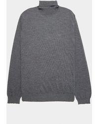 Emporio Armani Basic Roll Neck Jumper - Grey