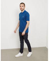 PS by Paul Smith - Mens Breton Zebra Short Sleeve Polo Shirt Navy Blue - Lyst