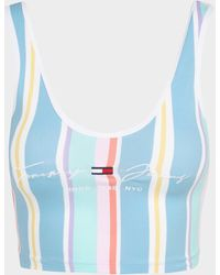 Tommy Hilfiger Stripe Crop Top - Blue