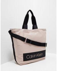 Calvin Klein - Womens Block Out Shopper Bag Pink - Lyst