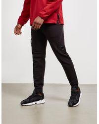 C P Company Asymetric Zip Pants Black