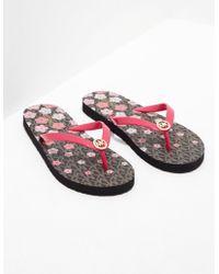 Michael Kors - Womens Flower Flip Flop Pink - Lyst