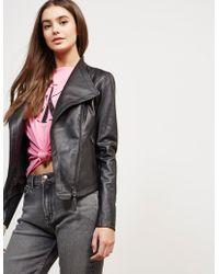 Mackage - Womens Leather Jacket Black - Lyst