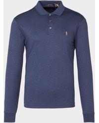Polo Ralph Lauren - Pima Polo Shirt Blue - Lyst