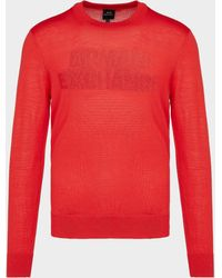 Armani Exchange - Jacquard Knitted Jumper - Lyst