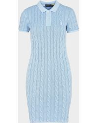 Polo Ralph Lauren Knitted Polo Dress - Blue