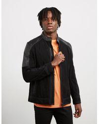 BOSS by Hugo Boss Jasens Leather Jacket Black