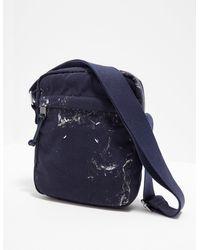 Maison Margiela Paint Splat Crossbody Bag Navy Blue