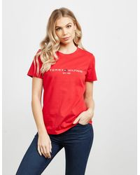 Tommy Hilfiger - Essential Short Sleeve T-shirt Red - Lyst