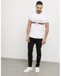 True Religion - Mens Artwork Short Sleeve T-shirt White - Lyst