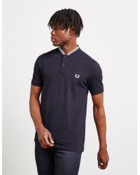 970acde93f3 Bomber Collar Short Sleeve Polo Shirt