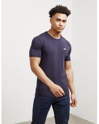 Love Moschino Mens Gold Plaque Short Sleeve T-shirt Navy Blue