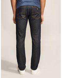 Armani Jeans J45 Straight Leg Jean - Blue