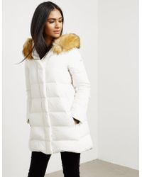 Armani Jeans - Womens Down Quilted Padded Jacket White - Lyst