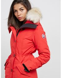 Canada Goose Rossclair Padded Parka Jacket Red