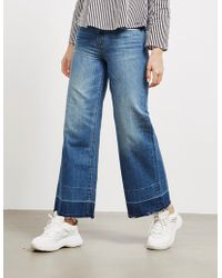 Armani Exchange Vintage Wide Cropped Jeans Blue