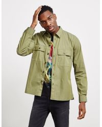 PS by Paul Smith Cotton Overshirt Green
