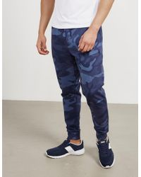 Polo Ralph Lauren Mens Basic Fleece Track Pants Camo/blue
