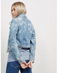Vivienne Westwood - Womens Anglomania Wave Denim Jacket - Online Exclusive Blue - Lyst