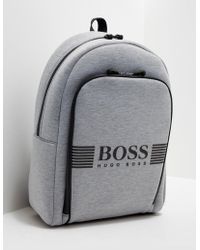 BOSS - Mens Jersey Backpack Grey - Lyst