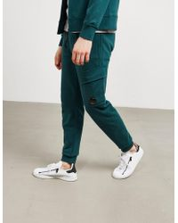 C.P. Company Mens Lens Track Trousers Green
