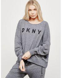 DKNY - Womens Open Back Sweatshirt Black - Lyst