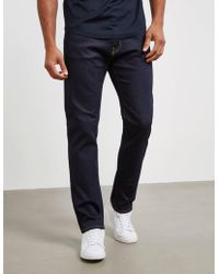 Emporio Armani J45 Regular Tapered Jeans Blue