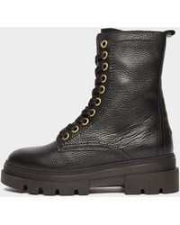 Tommy Hilfiger Rugged Lace Up Boots - Black