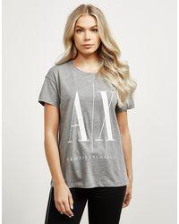 Armani Exchange Large Logo Short Sleeve T-shirt - Grey