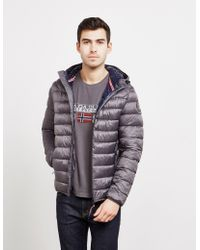 8c606038112a Napapijri - Aerons Padded Bubble Jacket Charcoal charcoal - Lyst
