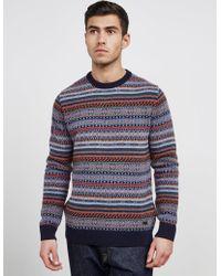 Barbour - Mens Fairisle Knitted Jumper Multi - Lyst