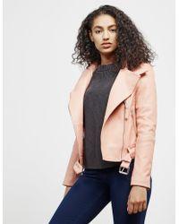Mackage - Womens Leather Jacket Peach - Lyst