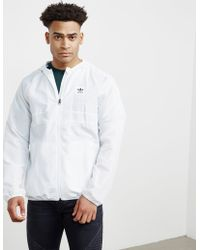 Adidas Originals | Mens Skateboarding Lightweight Windbreaker Jacket White/white | Lyst