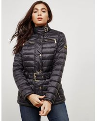 Barbour - Womens International Cadwell Quilted Jacket Black - Lyst