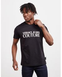 Versace Jeans - Gloss Logo Short Sleeve T-shirt Black - Lyst