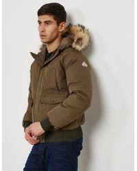 Pyrenex - Mens Mistral Fur Padded Jacket Green - Lyst