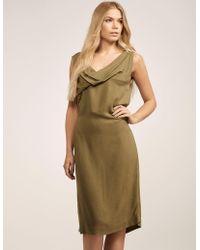 Vivienne Westwood - Womens Twisted Dress Green - Lyst