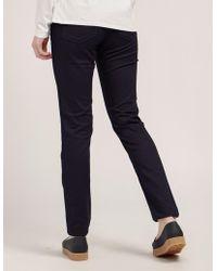 Armani Jeans - Womens J28 Skinny Jeans Navy Blue - Lyst
