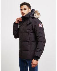 Canada Goose - Wyndham Padded Parka Jacket Black - Lyst