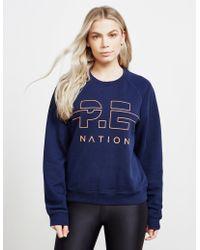 P.E Nation Swingman Sweatshirt Navy Blue