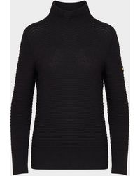 Barbour Hairpin Knit Jumper - Black