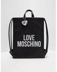 Love Moschino - Womens Flat Backpack Black - Lyst